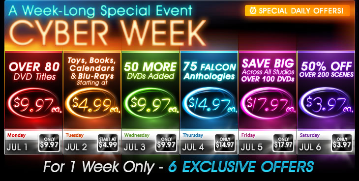 Cyber Week - A Week-Long Special Event - Special Daily Offers!