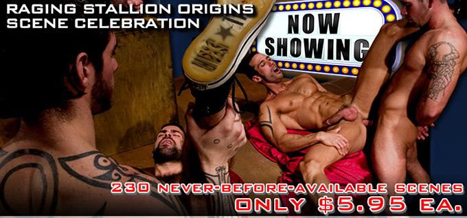 Raging Stallion Origins Scene Celebration - Only $5.95 each