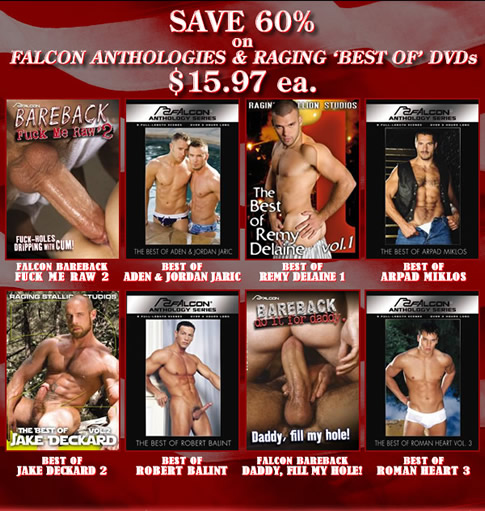 SAVE 60% on Falcon Anthologies & Raging 'Best of' DVDs - $15.97 each