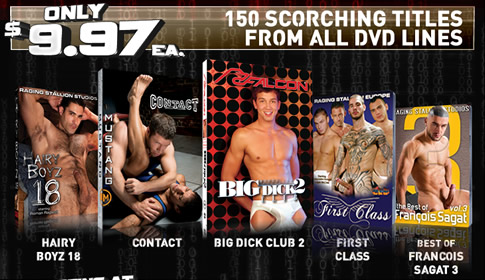 150 Scorching titles from all DVD lines.
