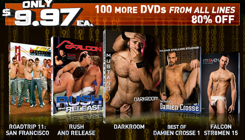100 More DVDs from all lines 80% off