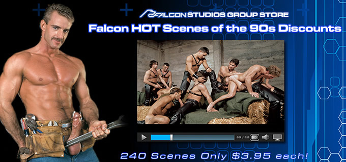 Falcon HOT Scenes of the 90s Discounts - 240 Scenes Only $3.95 each!