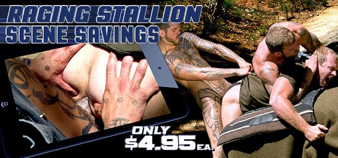 Raging Stallion Scene Savings - Only $4.95 each