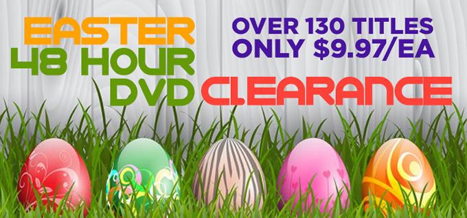 Easter 48 Hour DVD Clearance Savings